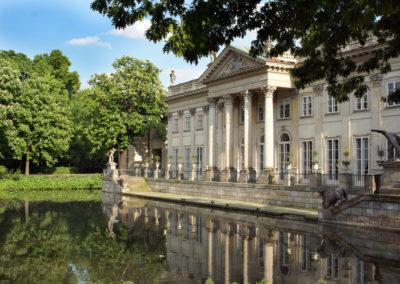 Palace on island